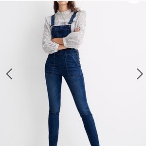 Madewell. Grover wash overall jeans. .